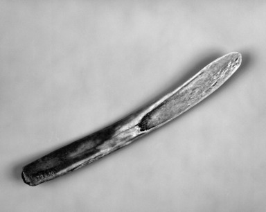 Eskimo. <em>Scraper</em>. Bone, 7 3/8 x 3/4 x 1/4in. (18.7 x 1.9 x 0.6cm). Brooklyn Museum, Gift of J.L. Greason, 67.26.10. Creative Commons-BY (Photo: Brooklyn Museum, 67.26.10_bw.jpg)