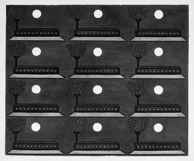 Sergio Gonzalez Tornero (Chilean, born 1927). <em>Twelve Moons</em>, 1966. Intaglio on paper, 19 3/4 x 23 3/4 in. (50.2 x 60.3 cm). Brooklyn Museum, Gift of Emilio Sanchez, 67.34.2. © artist or artist's estate (Photo: Brooklyn Museum, 67.34.2_acetate_bw.jpg)