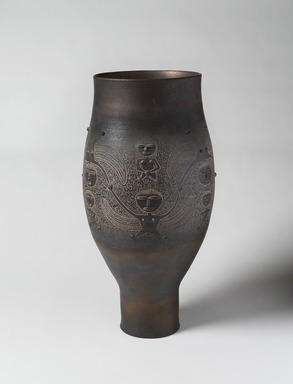 Edwin Scheier (American, 1910-2008). <em>Vase</em>, ca. 1962., 21 1/2 x 8 1/2 in. (54.6 x 21.6 cm). Brooklyn Museum, H. Randolph Lever Fund, 67.76.6. Creative Commons-BY (Photo: , 67.76.6_PS9.jpg)