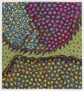 Yayoi Kusama (American, born 1929). <em>Flower H. A. H.</em>, 1954. Tempera on paper, 12 1/4 x 11 5/16 in. (31.1 x 28.7 cm). Brooklyn Museum, Gift of Richard Castellane, 67.82.2. © artist or artist's estate (Photo: Brooklyn Museum, 67.82.2_PS1.jpg)