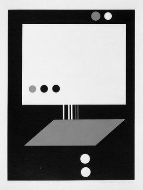 Luis Hernandez Cruz (Puerto Rican, born 1936). <em>Magnetic Force</em>, 1967. Serigraph, 23 1/4 × 17 1/4 in. (59.1 × 43.8 cm). Brooklyn Museum, Anonymous gift, 67.90.2. © artist or artist's estate (Photo: Brooklyn Museum, 67.90.2_acetate_bw.jpg)
