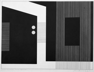 Luis Hernandez Cruz (Puerto Rican, born 1936). <em>Puntos Amarillos</em>, 1967. Serigraph, 16 × 23 1/4 in. (40.6 × 59.1 cm). Brooklyn Museum, Anonymous gift, 67.90.4. © artist or artist's estate (Photo: Brooklyn Museum, 67.90.4_acetate_bw.jpg)