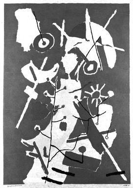 John von Wicht (American, born Germany, 1888-1970). <em>Springtime</em>, 1968. Stencil on paper, 39 1/2 x 28 in. (100.3 x 71.1 cm). Brooklyn Museum, Bristol-Myers Fund, 68.125 (Photo: Brooklyn Museum, 68.125_bw.jpg)