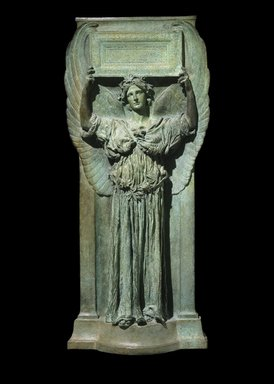 Augustus Saint-Gaudens (American, born Ireland, 1848-1907). <em>Amor Caritas</em>, 1898. Bronze, 39 7/8 x 17 3/4 x 5 in. (101.3 x 45.1 x 12.7 cm). Brooklyn Museum, Gift of Mr. and Mrs. Harris Klein, 68.184. Creative Commons-BY (Photo: Brooklyn Museum, 68.184_SL1.jpg)