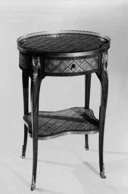 <em>Writing Table</em>, ca. 1765. Tulipwood, casuarina wood, 29 3/4 x 21 1/4 x 15 3/4 in. (75.6 x 54 x 40 cm). Brooklyn Museum, Gift of the Estate of Mary Hayward Weir, 68.202.10. Creative Commons-BY (Photo: Brooklyn Museum, 68.202.10_bw.jpg)