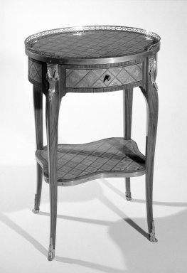 <em>Writing Table</em>, ca. 1765. Tulipwood, casuarina wood, 29 3/4 x 21 1/4 x 15 3/4 in. (75.6 x 54 x 40 cm). Brooklyn Museum, Gift of the Estate of Mary Hayward Weir, 68.202.10. Creative Commons-BY (Photo: Brooklyn Museum, 68.202.10_view1_bw.jpg)