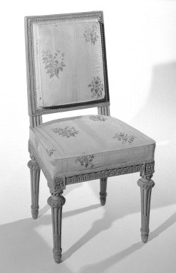 George Jacob (1768-1803). <em>Chair</em>, ca. 1785. Carved beechwood, 31 3/4 x 17 x 16 in. (80.6 x 43.2 x 40.6 cm). Brooklyn Museum, Gift of the Estate of Mary Hayward Weir, 68.202.3. Creative Commons-BY (Photo: Brooklyn Museum, 68.202.3_bw.jpg)