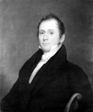 Chester Harding (American, 1792-1866). <em>The Honorable Russell Freeman</em>, ca. 1830. Oil on canvas, 29 1/2 x 24 7/16 in. (74.9 x 62.1 cm). Brooklyn Museum, Gift of Howard Weingrow, 68.208 (Photo: Brooklyn Museum, 68.208_bw.jpg)