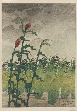 Ito Shinsui (Japanese, 1898-1972). <em>Before the Storm</em>, 1920. Woodblock print on paper, 12 x 8 1/2 in. (30.5 x 21.6 cm). Brooklyn Museum, Carll H. de Silver Fund, 68.35.1 (Photo: Brooklyn Museum, 68.35.1_IMLS_PS3.jpg)