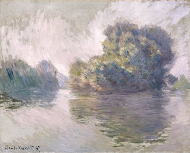 Claude Monet (French, 1840-1926). <em>The Islets at Port-Villez (Les Iles à Port-Villez)</em>, 1897. Oil on canvas, 32 3/16 x 39 3/4 in. (81.8 x 101 cm). Brooklyn Museum, Bequest of Grace Underwood Barton, 68.48.2 (Photo: Brooklyn Museum, 68.48.2_reference_SL1.jpg)