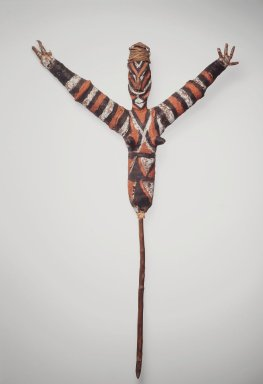 Malakula. <em>Figure (Temes Nevinbur)</em>, early 20th century. Fiber, leaves, wood, raffia, vegetal-fiber paste, pigment, 34 1/4 x 21 1/2 x 3 3/4 in. (87 x 54.6 x 9.5 cm). Brooklyn Museum, Frederick Loeser Fund, Carll H. de Silver Fund, and Caroline A.L. Pratt Fund, 68.53. Creative Commons-BY (Photo: Brooklyn Museum, 68.53.jpg)