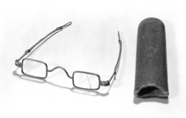<em>Case for Spectacles</em>, 18th century. Leather Brooklyn Museum, Gift of Reverend Cornelius Vander Naald, 68.6.3b. Creative Commons-BY (Photo: , 68.6.3a_68.6.3b_bw.jpg)