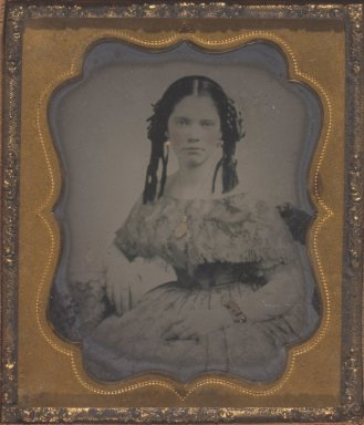 Unknown. <em>Mary Jane Walker, Mother of Donor</em>. Tintype Brooklyn Museum, Gift of Josephine and Henrietta Walker, 68.79.11 (Photo: Brooklyn Museum, 68.79.11.jpg)