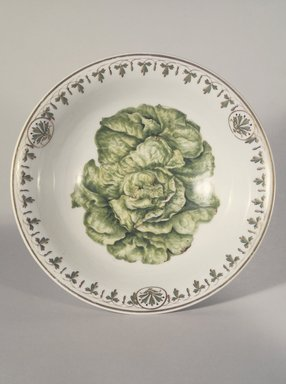 Union Porcelain Works (1863-ca. 1922). <em>Salad Bowl</em>, ca. 1885. Porcelain, 3 1/2 x 9 7/8 x 9 7/8 in. (8.9 x 25.1 x 25.1 cm). Brooklyn Museum, Gift of Franklin Chace, 68.87.1. Creative Commons-BY (Photo: Brooklyn Museum, 68.87.1.jpg)