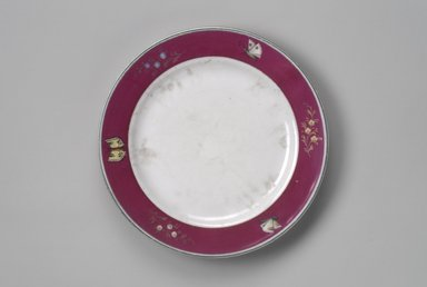 Union Porcelain Works (1863-ca. 1922). <em>Plate</em>, ca. 1879. Porcelain, 1 1/8 x 9 5/8 x 9 5/8 in. (2.9 x 24.4 x 24.4 cm). Brooklyn Museum, Gift of Franklin Chace, 68.87.18. Creative Commons-BY (Photo: Brooklyn Museum, 68.87.18.jpg)