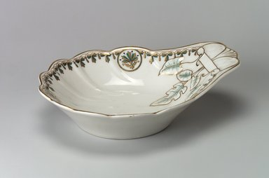 Union Porcelain Works (1863-ca. 1922). <em>Relish Dish</em>, ca. 1880. Porcelain, 7 7/8 x 10 in. (20 x 25.4 cm). Brooklyn Museum, Gift of Franklin Chace, 68.87.2. Creative Commons-BY (Photo: Brooklyn Museum, 68.87.2.jpg)