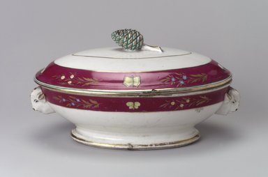 Union Porcelain Works (1863-ca. 1922). <em>Vegetable Dish and Cover</em>, ca. 1879. Porcelain, 5 5/8 x 10 1/2 x 6 3/8 in. (14.3 x 26.7 x 16.2 cm). Brooklyn Museum, Gift of Franklin Chace, 68.87.20a-b. Creative Commons-BY (Photo: Brooklyn Museum, 68.87.20a-b.jpg)