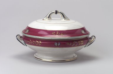 Union Porcelain Works (1863-ca. 1922). <em>Vegetable Dish and Cover</em>, ca. 1879. Porcelain, 6 1/8 x 9 15/16 x 8 3/4 in. (15.6 x 25.2 x 22.2 cm). Brooklyn Museum, Gift of Franklin Chace, 68.87.24a-b. Creative Commons-BY (Photo: Brooklyn Museum, 68.87.24a-b.jpg)