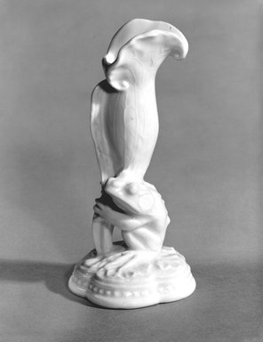 Union Porcelain Works (1863-ca. 1922). <em>Vase</em>, ca. 1884. Porcelain, 5 3/4 x 2 3/4 x 2 3/4 in. (14.6 x 7 x 7 cm). Brooklyn Museum, Gift of Franklin Chace, 68.87.36. Creative Commons-BY (Photo: Brooklyn Museum, 68.87.36_bw.jpg)