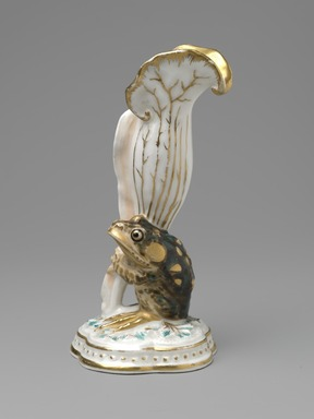 Karl L. H. Mueller (American, born Germany, 1820-1887). <em>Vase</em>, ca. 1876. Porcelain, 5 3/4 x 3 x 2 3/4 in. (14.6 x 7.6 x 7 cm). Brooklyn Museum, Gift of Franklin Chace, 68.87.37. Creative Commons-BY (Photo: Brooklyn Museum, 68.87.37_PS6.jpg)