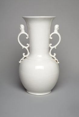 Union Porcelain Works (1863-ca. 1922). <em>Vase</em>, ca. 1884. Porcelain, 7 3/4 x 4 1/2 x 4 5/16 in. (19.7 x 11.4 x 11 cm). Brooklyn Museum, Gift of Franklin Chace, 68.87.39. Creative Commons-BY (Photo: Brooklyn Museum, 68.87.39.jpg)