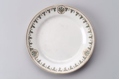 Union Porcelain Works (1863-ca. 1922). <em>Plate</em>, ca. 1880. Porcelain, 1 1/8 x 9 1/2 x 9 1/2 in. (2.9 x 24.1 x 24.1 cm). Brooklyn Museum, Gift of Franklin Chace, 68.87.4. Creative Commons-BY (Photo: Brooklyn Museum, 68.87.4.jpg)