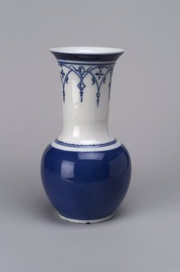 Union Porcelain Works (1863-ca. 1922). <em>Vase</em>, ca. 1884. Porcelain, 7 3/4 x 4 1/4 x 4 1/4 in. (19.7 x 10.8 x 10.8 cm). Brooklyn Museum, Gift of Franklin Chace, 68.87.42. Creative Commons-BY (Photo: Brooklyn Museum, 68.87.42.jpg)