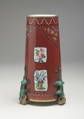 Union Porcelain Works (1863-ca. 1922). <em>Vase</em>, ca. 1876. Porcelain, 10 3/4 x 5 3/4 x 5 3/4 in. (27.3 x 14.6 x 14.6 cm). Brooklyn Museum, Gift of Franklin Chace, 68.87.45. Creative Commons-BY (Photo: Brooklyn Museum, 68.87.45_view1_PS9.jpg)