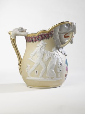 Karl L. H. Mueller (American, born Germany, 1820-1887). <em>Ice Pitcher</em>, ca. 1875. Porcelain, 9 3/4 in. (24.8 cm). Brooklyn Museum, Gift of Franklin Chace, 68.87.51. Creative Commons-BY (Photo: Brooklyn Museum, 68.87.51_right_PS9.jpg)