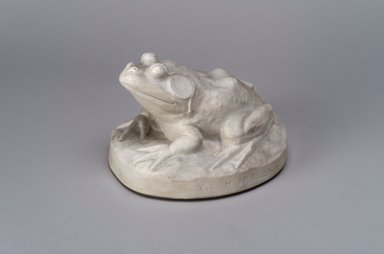 Union Porcelain Works (1863-ca. 1922). <em>Paperweight in the Form of a Frog</em>, ca. 1875. Porcelain, 3 1/2 x 4 5/8 x 4 5/8 in. (8.9 x 11.7 x 11.7 cm). Brooklyn Museum, Gift of Franklin Chace, 68.87.52. Creative Commons-BY (Photo: Brooklyn Museum, 68.87.52.jpg)