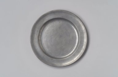 William Horsewell. <em>Plate</em>, before 1705. Pewter, 5/8 x 8 x 8 in. (1.6 x 20.3 x 20.3 cm). Brooklyn Museum, Gift of Job Leon Congdon, 69.118. Creative Commons-BY (Photo: Brooklyn Museum, 69.118.jpg)