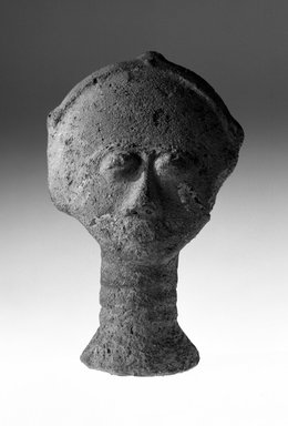 Akan. <em>Funerary Portrait Head</em>, 19th or 20th century. Terracotta, height: 8 1/6 in. (20.4 cm). Brooklyn Museum, Gift of Merton D. Simpson to the Jennie Simpson Educational Collection of African Art, 69.133.8. Creative Commons-BY (Photo: Brooklyn Museum, 69.133.8_bw.jpg)