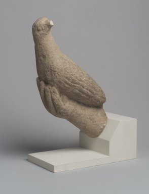 <em>Hand Grasping a Bird</em>, 12-13th century C.E. Limestone, 9 1/2 in. (24.1 cm). Brooklyn Museum, Gift of Rosemary and George Lois, 69.163. Creative Commons-BY (Photo: Brooklyn Museum, 69.163_right.jpg)