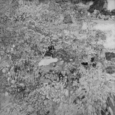 Morton Kaish (American, born 1927). <em>Garden, Sintra</em>, 1969. Acrylic on gesso panel, 47 7/8 x 47 7/8 in. (121.6 x 121.6 cm). Brooklyn Museum, John B. Woodward Memorial Fund, 69.17. © artist or artist's estate (Photo: Brooklyn Museum, 69.17_bw.jpg)