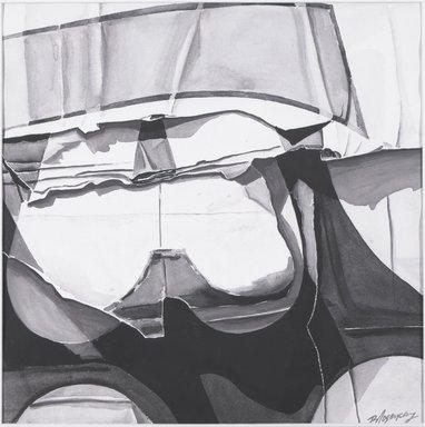 "Burhan Cahit Dogançay (American, born Turkey, 1929-2013). <em>From Walls V</em>, 1969. Gouache on paper, 19 3/8 x 19 3/8"". Brooklyn Museum, Gift of Iris Love, 69.49. © artist or artist's estate (Photo: Brooklyn Museum, 69.49_bw.jpg)"