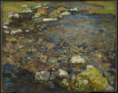 John Singer Sargent (American, born Italy, 1856-1925). <em>Val d'Aosta (A Stream over Rocks; Stream in Val d'Aosta)</em>, ca. 1907-1908. Oil on canvas, 21 5/8 x 27 1/2 in. (54.9 x 69.9 cm). Brooklyn Museum, A. Augustus Healy Fund, 69.52 (Photo: Brooklyn Museum, 69.52_PS6.jpg)