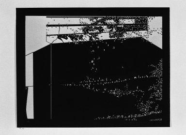 Kimura Risaburo (Japanese, born 1924). <em>City I</em>, 1968. Serigraph, 21 x 27 in. (53.3 x 68.6 cm). Brooklyn Museum, Caroline A.L. Pratt Fund, 69.59. © artist or artist's estate (Photo: Brooklyn Museum, 69.59_bw.jpg)