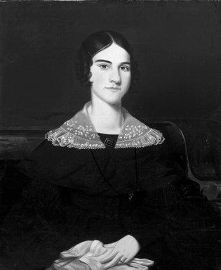 Jefferson Gauntt (American, 1805-1864). <em>Portrait of a Young Lady</em>, 1838. Oil on canvas, 27 9/16 x 25 in. (70 x 63.5 cm). Brooklyn Museum, Dick S. Ramsay Fund, 70.102 (Photo: Brooklyn Museum, 70.102_bw.jpg)