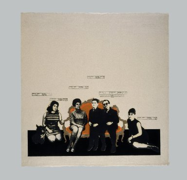 Tetsuya Noda (Japanese, born 1940). <em>Diary:  Sept. 11th '68</em>, 1968. Woodcut and screenprint on paper, sheet/image: 32 5/16 x 32 5/16 in. (82 x 82 cm). Brooklyn Museum, Gift of the artist, 70.114. © artist or artist's estate (Photo: Brooklyn Museum, 70.114_edited_print_IMLS_SL2.jpg)