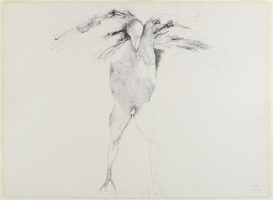 Leonard Baskin (American, 1922-2000). <em>Mortification</em>, 1967. Pen and ink on paper, 22 x 21 in. (55.9 x 53.3 cm). Brooklyn Museum, Gift of John E. Marqusee in honor of Estelle Unger, 70.14. © artist or artist's estate (Photo: Brooklyn Museum, 70.14_PS4.jpg)