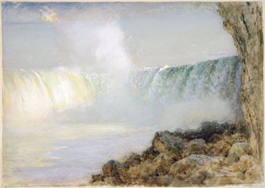 Arthur Parton (American, 1842-1914). <em>Niagara Falls</em>, ca. 1880. Transparent and opaque watercolor on cream, thick, moderately textured wove paper, 21 x 29 11/16 in. (53.3 x 75.4 cm). Brooklyn Museum, Gift of the Henfield Foundation, Inc., 70.174 (Photo: Brooklyn Museum, 70.174_SL1.jpg)