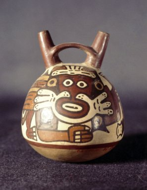 Nazca. <em>Vessel</em>. Ceramic, 5 1/4 x  4 in. Brooklyn Museum, Gift of Ernest Erickson, 70.177.24. Creative Commons-BY (Photo: Brooklyn Museum, 70.177.24.jpg)