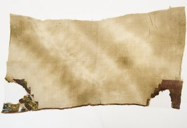 Nazca. <em>Fragment of a Mantle</em>. Cotton, camelid fiber, 27 1/4 x 48 1/2 in. (69.2 x 123.2 cm). Brooklyn Museum, Gift of Ernest Erickson, 70.177.28. Creative Commons-BY (Photo: Brooklyn Museum, 70.177.28_front_PS5.jpg)