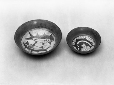Nazca. <em>Bowl</em>. Ceramic, Diam: 7 1/2 in. (19 cm). Brooklyn Museum, Gift of Ernest Erickson, 70.177.37. Creative Commons-BY (Photo: Brooklyn Museum, 70.177.37_acetate_bw.jpg)