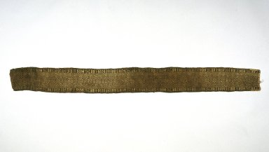 Inca. <em>Belt or Chumpi</em>, 1400-1532. Camelid fiber, 6 1/2 x 63 in. (16.5 x 160 cm). Brooklyn Museum, Gift of Ernest Erickson, 70.177.55. Creative Commons-BY (Photo: Brooklyn Museum, 70.177.55_SL1.jpg)