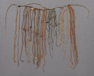 Inca (attrib by Nobuko Kajatani and Anne Rowe, 1993). <em>Quipu</em>, 1400-1532. Cotton, 15 3/8 x 30 5/16 in.  (39 x 77 cm). Brooklyn Museum, Gift of Ernest Erickson, 70.177.69. Creative Commons-BY (Photo: , 70.177.69_PS9.jpg)