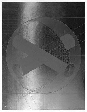 Arnaldo Pomodoro (Italian, born 1926). <em>Maximal Gyre II</em>, 1968. Lithograph on mylar, 25 3/4 x 19 7/8 in. (65.4 x 50.5 cm). Brooklyn Museum, Charles Stewart Smith Memorial Fund, 70.38. © artist or artist's estate (Photo: Brooklyn Museum, 70.38_bw.jpg)