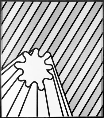 Nicholas Krushenick (American, 1929-1999). <em>Amberbahn</em>, 1969. Screen process, Sheet: 34 x 29 7/8 in. (86.4 x 75.9 cm). Brooklyn Museum, Charles Stewart Smith Memorial Fund, 70.45. © artist or artist's estate (Photo: Brooklyn Museum, 70.45_bw.jpg)