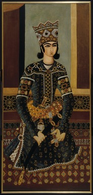 <em>Seated Prince</em>, ca. 1825. Oil on cotton (framed, conserved), 62 x 29 in. (157.5 x 73.7 cm). Brooklyn Museum, Gift of Mr. and Mrs. Charles K. Wilkinson, 70.62.2 (Photo: Brooklyn Museum, 70.62.2_IMLS_SL2.jpg)