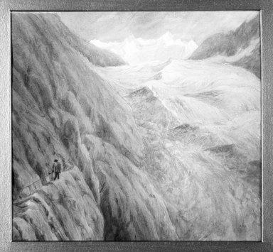 Ogden Nicholas Rood (American, 1811-1902). <em>Alpine Scene</em>. Watercolor Brooklyn Museum, Gift of Helen Rice, 70.67.1 (Photo: Brooklyn Museum, 70.67.1_framed_bw.jpg)